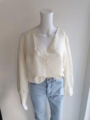 weiß creme Hemd True vintage Bluse oversize pulli pullover top Shirt