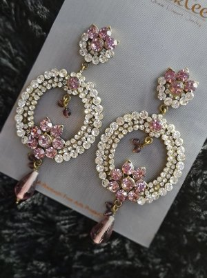 Statement Earrings white-light pink