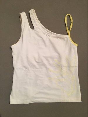 Weiß gelbes Sport Shirt