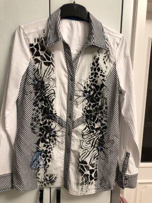 Weiß  gemusterte Bluse