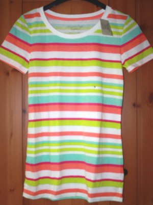 weiß gestreiftes Original American Eagle Outfitters T-Shirt in Gr. S
