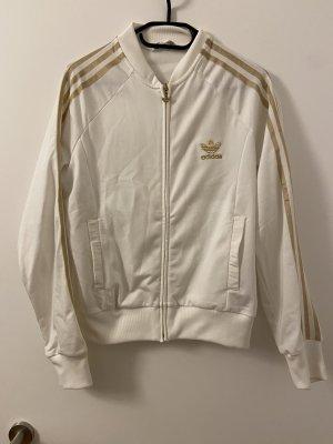 Adidas Veste de sport blanc-doré