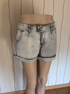 Weiß graue Shorts 100% Baumwolle Größe 42