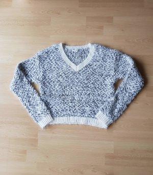 weiß, grauer flauschiger Pullover von Tally Weijl
