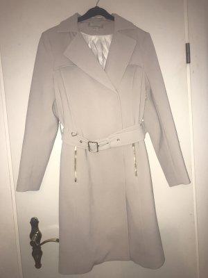 H&M Trenchcoat lichtgrijs-wit