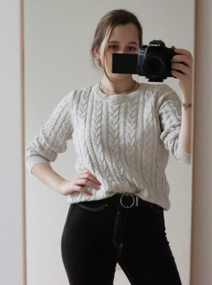 Vintage Cable Sweater light grey