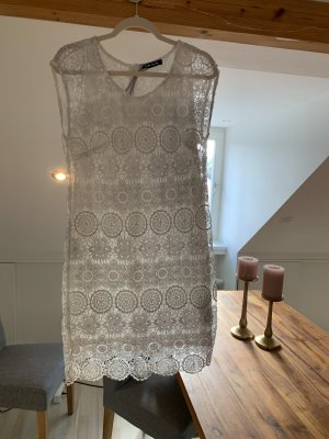 Betty Barclay Lace Dress white-light grey