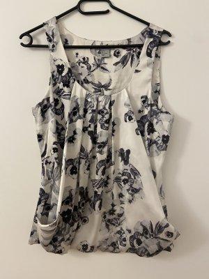 Silk Top white-grey