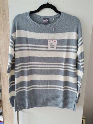 Weiß-Graues Puma Sweatshirt | NEU