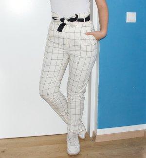 Mango Paperbag Trousers white mixture fibre