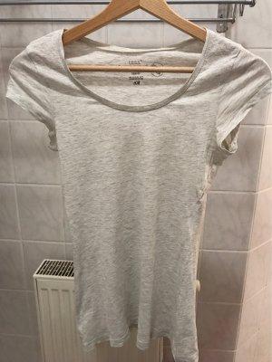 Weiß meliertes Basic Shirt