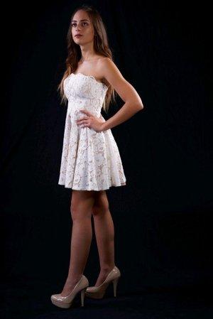 Weiß nude kleid