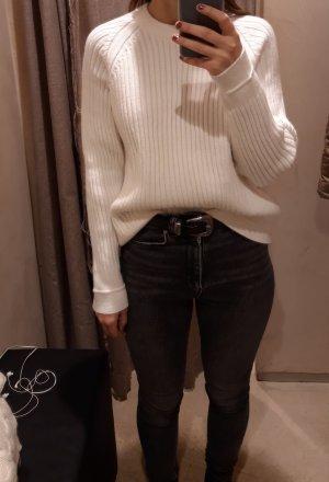 Mango Coarse Knitted Sweater white