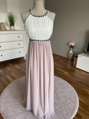 weiß-rosa Abendkleid