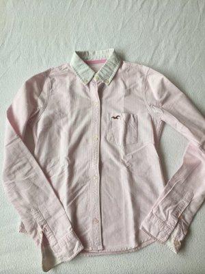 Weiß-rosa gestreifte Bluse von Hollister