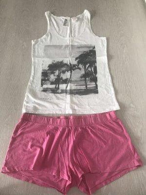 Weiß, rosanes Schlafanzug Set von H&M