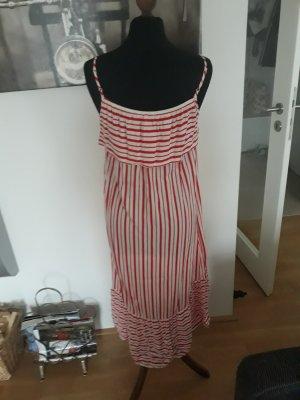 H&M vestido de globo blanco-rojo