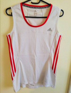 Weiß-rotes Sporttop