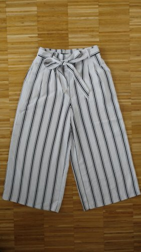 Amisu Pantalone palazzo bianco-nero