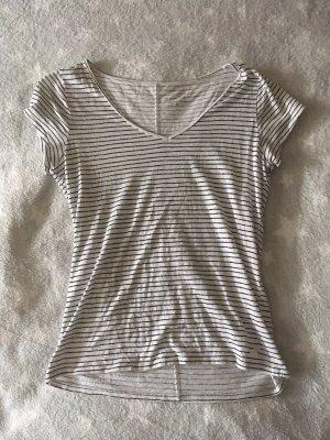 Weiß schwarz gestreiftes Shirt