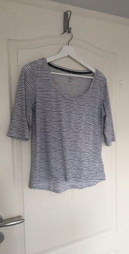 Tchibo / TCM V-Neck Shirt white-black