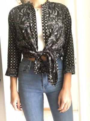 Weiß, schwarze Bluse, Kimono von H&M M 38