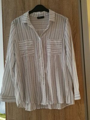 Weiß, schwarze Bluse von Janina Gr. 40