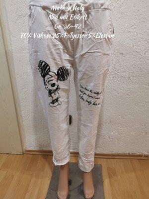 Made in Italy Flodderbroek wit-zwart