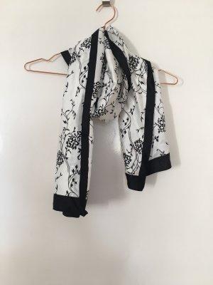 Sciarpa di seta bianco-nero