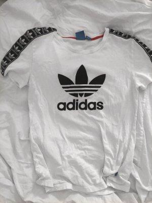 weiß schwarzes adidas t-shirt