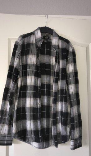 weiß schwarzes kariertes hemd/bluse