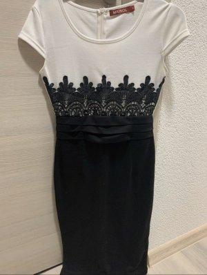 Weiß Schwarzes Kleid