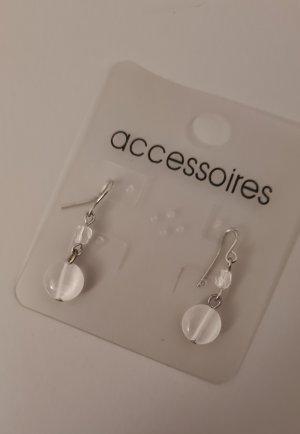 Accessoires Pendientes colgante blanco-color plata