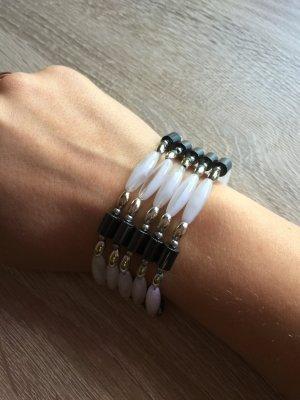 Weiß silberne Kette / Armband aus Metall