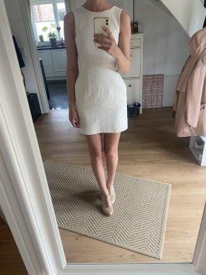Weiß silbernes Cocktail Kleid in Größe 34/XS