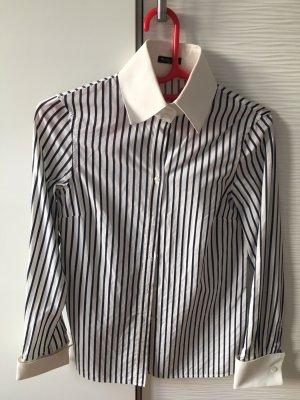 Massimo Dutti Shirt Blouse white-dark blue