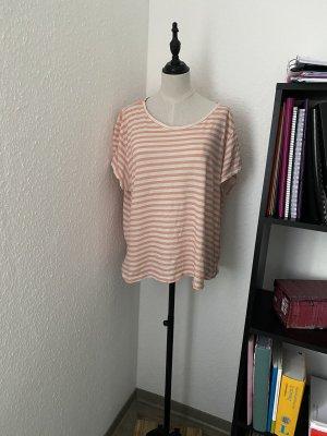 Weiß und nude T-Shirt