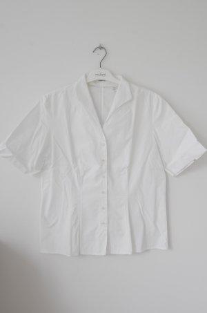 Weiß Van Laack Bluse mit kurzen Ärmeln