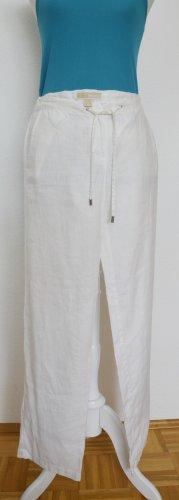 Michael Kors Lniane spodnie biały Len