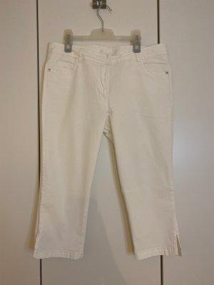 weiße 3/4 Hose