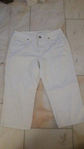 Weiße 3/4-Jeans