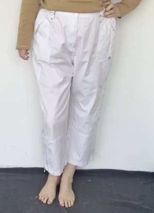 Stooker 7/8 Length Trousers white cotton