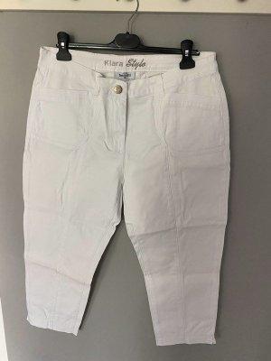 Weiße 7/8 Jeans von Gina Benotti, Gr. 46 - Klara Style