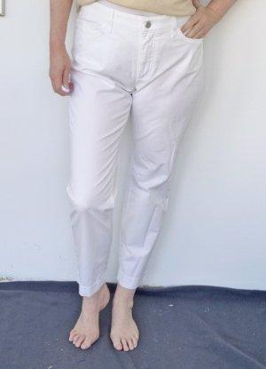 Mac 7/8 Length Trousers white cotton