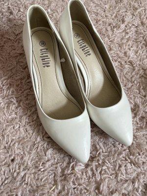 Weiße Abend Schuhe