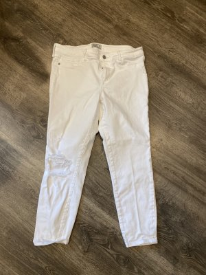 Abercrombie & Fitch Jeans taille basse blanc