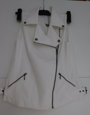 Biker Vest white-silver-colored