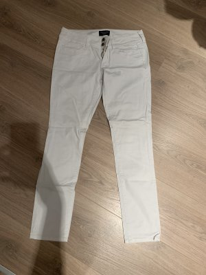 American Eagle Outfitters Hoge taille broek wit