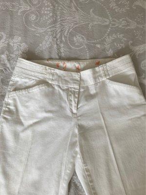 Weiße Anzughose
