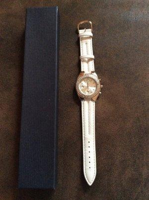 Weiße Armbanduhr Quarz / neu